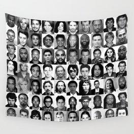 Celebrity Mugshots Wall Tapestry
