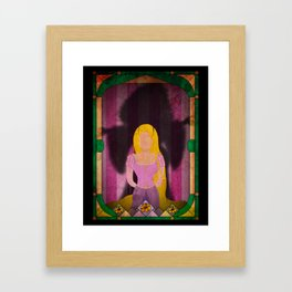 Shadow Collection, Series 1 - Flower Framed Art Print