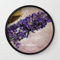 verse Wall Clocks featuring Amazing Grace - Verse by Anita Faye