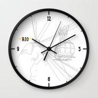 rio Wall Clocks featuring RIO by ThiagoKoi