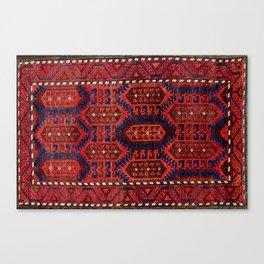 Baluch  Antique  Khorasan Persian Rug Canvas Print