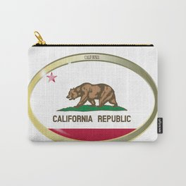 California State Flag Oval Button Carry-All Pouch