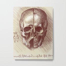 Leo's Skull. Metal Print