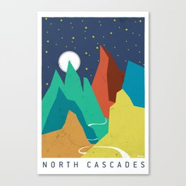 North Cascades Moonrise Canvas Print