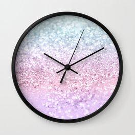 Unicorn Girls Glitter #4 (2019 Version) #shiny #pastel #decor #art #society6 Wall Clock