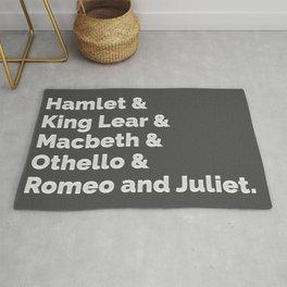 Shakespeare Plays I Rug