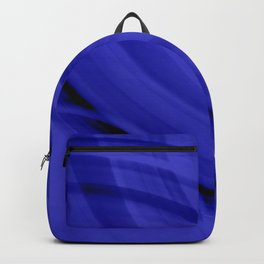 Ellipse intersecting nautical curved lines with blurred ovals of bright rings.  Backpack