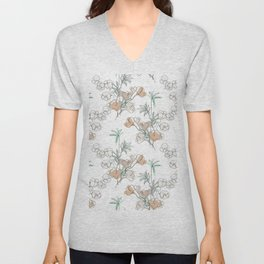Bamboo, Ginkgo and Cotton Unisex V-Neck