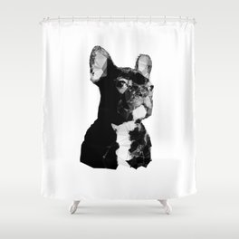 Majestic French Bulldog Modern Shower Curtain