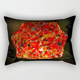 Glowing Stained Glass Lamp Rectangular Pillow