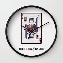 House of cards Playing card  Wall Clock