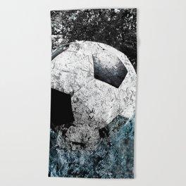 Modern soccer version 1 Beach Towel