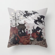 Samhain Kittens Throw Pillow
