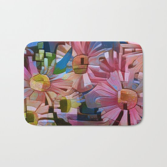 A Daisy Abstract Bath Mat