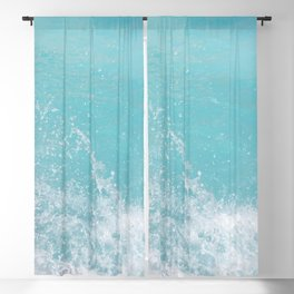 Fifty Shades of Blue Ocean Waves in Crete Island, Greece | Travel Photography Blackout Curtain