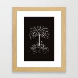 The White Tree Framed Art Print