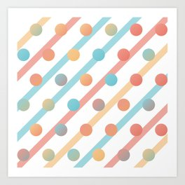 Simple saturated pattern Art Print