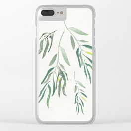 Eucalyptus Branches II Clear iPhone Case