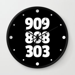 909/808/303 Dance Music Quote Wall Clock