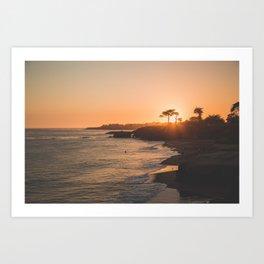 Santa Cruz Sunset Art Print