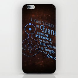 Dr. Manhattan - Tired of Earth iPhone Skin