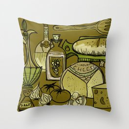 My Mid-Century Kitchen Throw Pillow