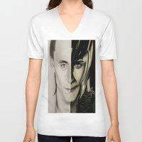 tom hiddleston V-neck T-shirts featuring Tom Hiddleston by Goolpia