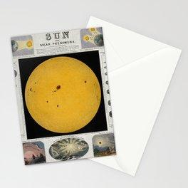 The Sun and Solar Phenomena Stationery Cards