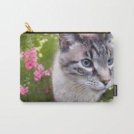 kitty in secret garden Carry-All Pouch
