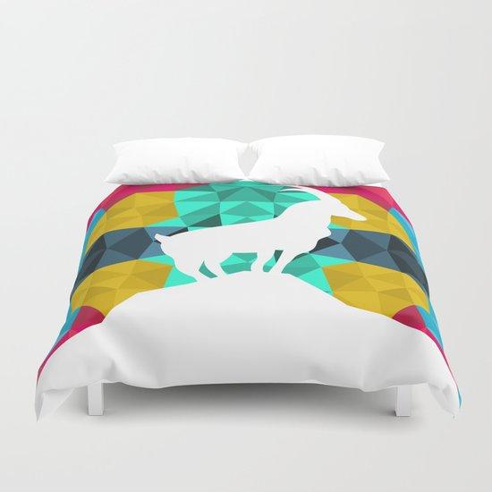 Origami Goat Duvet Cover