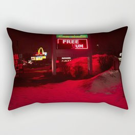 Gas Station Rectangular Pillow