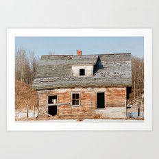 Usona Farm-house 1 Art Print