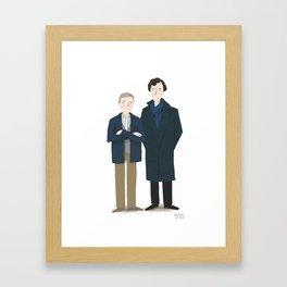 Sherlock and Watson Framed Art Print
