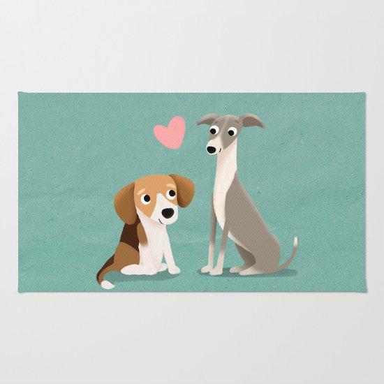 The Unlikely Pair - Cute Dog Series Rug