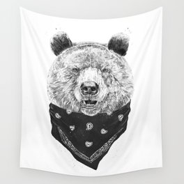 Wild bear Wall Tapestry