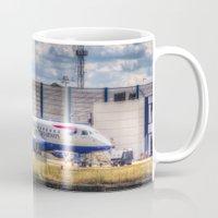 british Mugs featuring British Airways  by David Pyatt