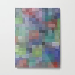 Abstract pixel pattern Metal Print