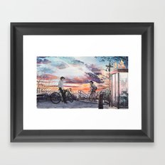 Bicycle Boy 10 Framed Art Print