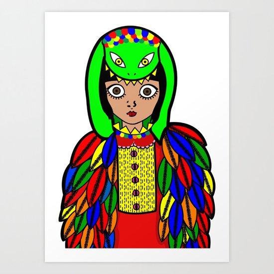Quetzacoatl Art Print