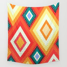Decorative rhombs Wall Tapestry