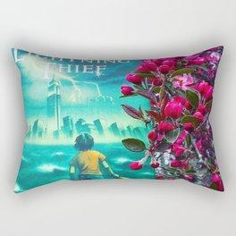 Percy Jackson & the Cherry Blossom Tree Rectangular Pillow