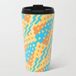 Chocktaw Geometric Square Cutout Pattern - New Mexico Travel Mug
