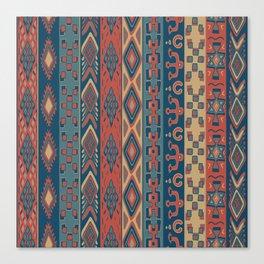 Navajo Geometric Pattern Canvas Print