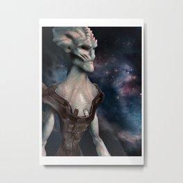 Alien Hero Metal Print
