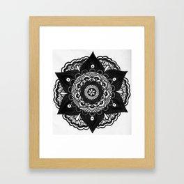 Flower Mandala Number 2 Framed Art Print