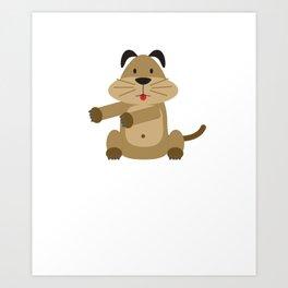 Floss Dance Move Dog Art Print