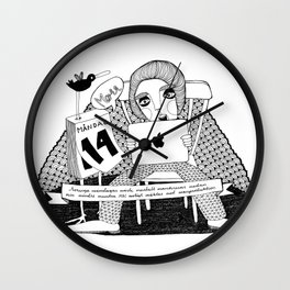 Swedish Alliteration Wall Clock