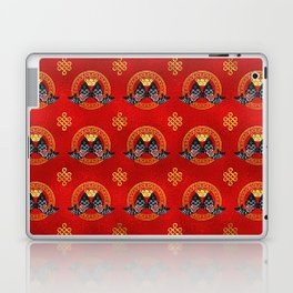 Good Fortune Symbol with Koi Fish and coin Laptop & iPad Skin