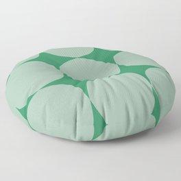 Green Circles Floor Pillow