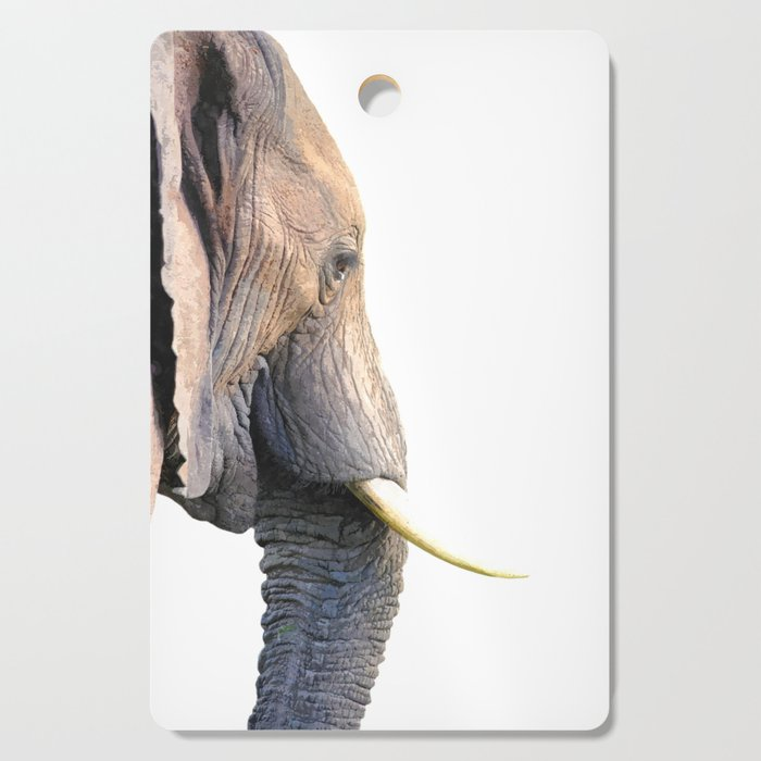 Elephant portrait Cutting Board
